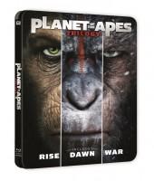 Trilogía planeta de los simios Steelbook